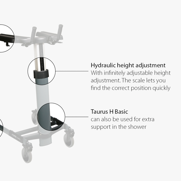 TOPRO_Taurus_H_Basic Walker_important_features hydraulic height adjustment