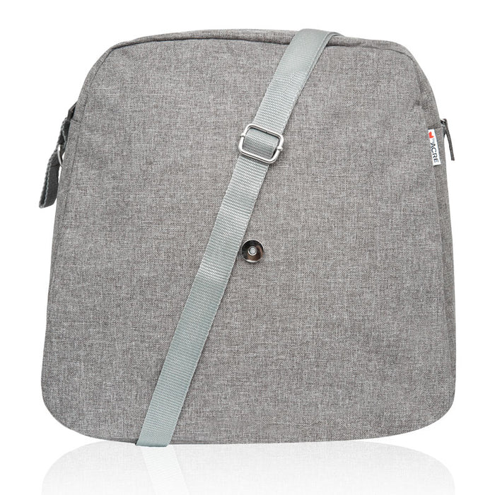 byAcre ultralight accessory weekend bag back grey showing strap