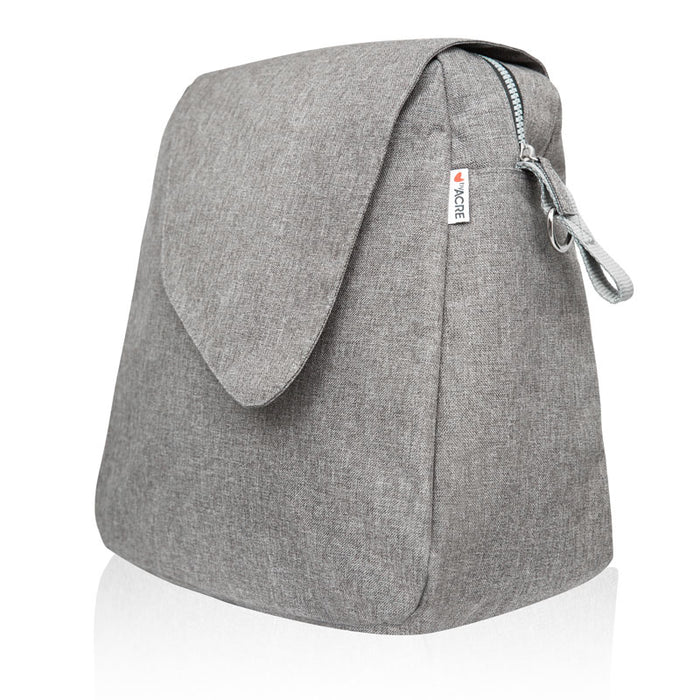 byAcre ultralight accessory weekend bag grey logo