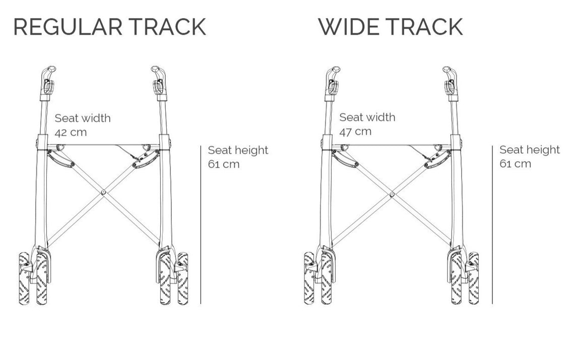 byAcre Ultalight Rollator Track Adjustment