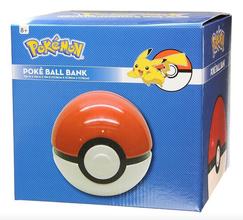 Pokemon Poké Ball 7 inch Ceramic Money Bank