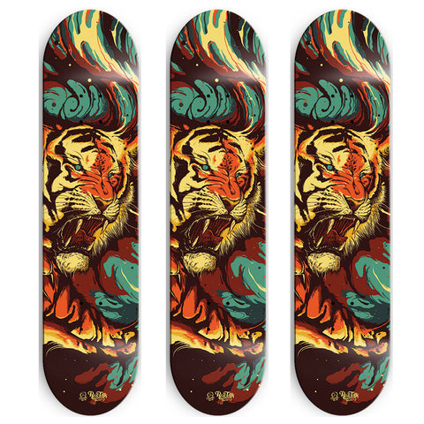 Real Talk TIGER skate deck