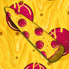 The Pizza Cruiser skate deck (two graphics)