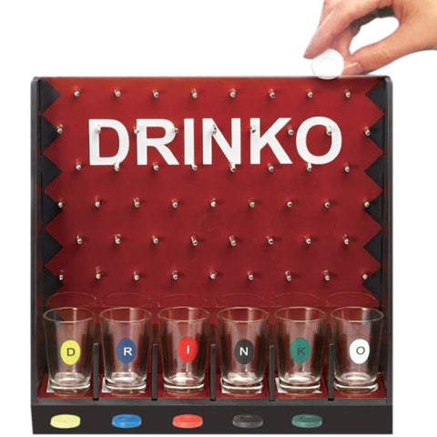 Mini Drinking Game Coin Dropping Party Games Bar Game With 6 Glass Cups And 1 Rack Novelty Gifts - Party-Trends der Shop mit den coolsten Produkten für deine Party