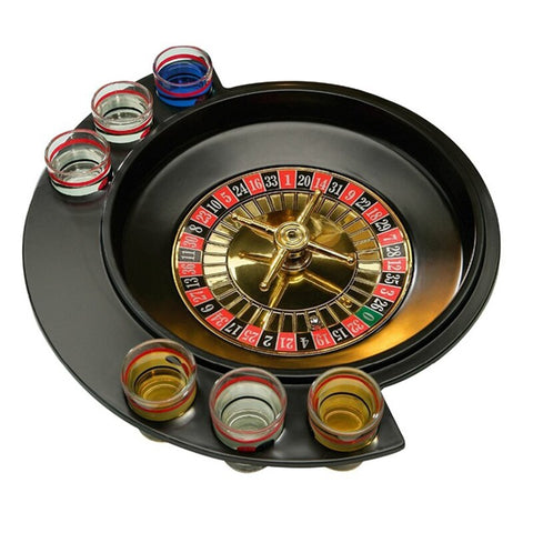 Novelty Gifts Russian Lucky Shot Party Games Roulette Drinking Game With 6 Glass Spin Wheel Portable Board Game For 2-3 Players - Party-Trends der Shop mit den coolsten Produkten für deine Party