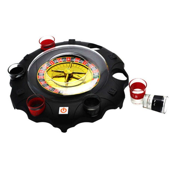 ABUO-Electric Russian Lucky Turntable Wine Set Ktv Bar Nightclub Drinking Game Props - Party-Trends der Shop mit den coolsten Produkten für deine Party