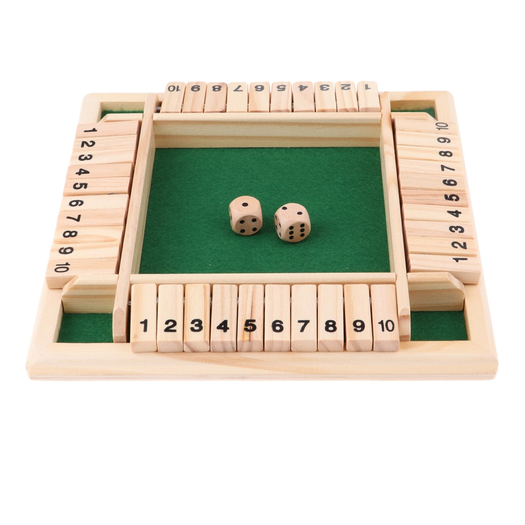 4 Sided 10 Numbers Shut The Box Board Game for Kids and Adults Birthday Drinking Prop KTV Pub Bar Party Board Game - Party-Trends der Shop mit den coolsten Produkten für deine Party