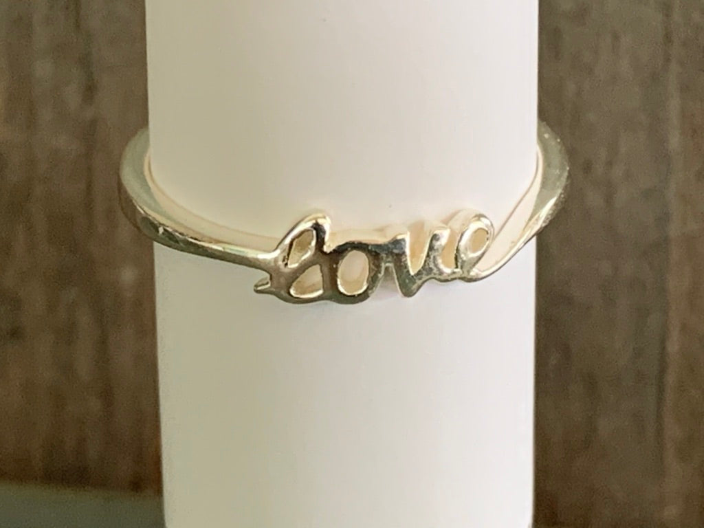 sterling'love' ring