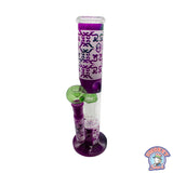 Purple and Green Patterned Bong