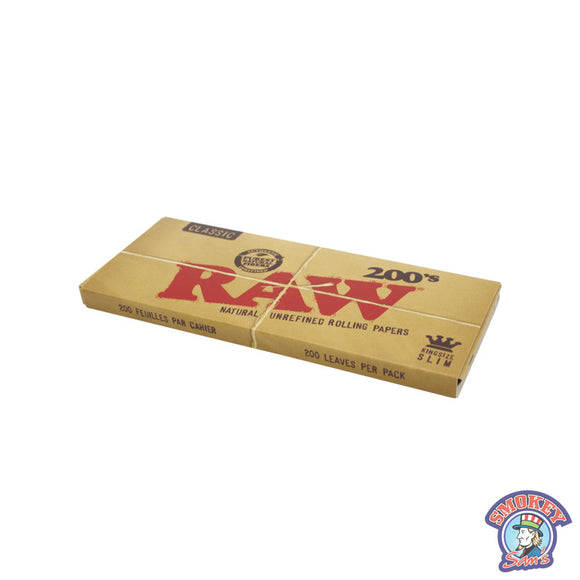 RAW Classic 200's Rolling Papers King Size Slim