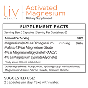 Activated Magnesium 235mg