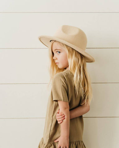 Bordeaux Flat Brim Hat- Ivory Child