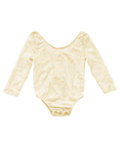 Lace Leotard - Cream