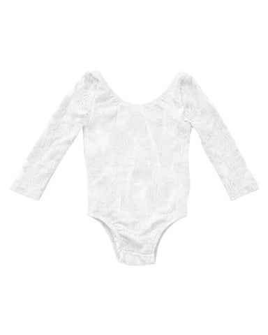 Lace Leotard-Bright White