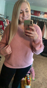Pretty Lady Mauve Sweater-Mommy