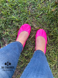 Hot Pink Ballet Flats from The Storehouse Flats Neon Collection