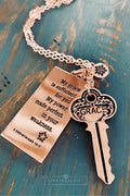 2 Corinthians 12:9 Grace Key Necklace by Sanctuary Girl
