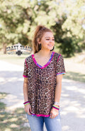 Candy Leopard Reversible Top