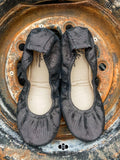 Storehouse Flats Gunmetal Shimmer Ballet Flats for Fall and Halloween