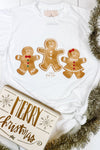 Gingerbread Gang Christmas Graphic Tee