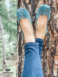 Green Plaid Ballet Flats