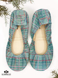 Christmas Green Plaid Ballet Flats