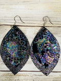 Paisley Leather Earrings