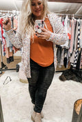 Miley Dot Confetti Cardigan in White