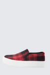 Hike Red Plaid Sneakers with Memory Foam