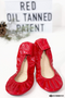 Storehouse Flats Red Oil Tanned Patent