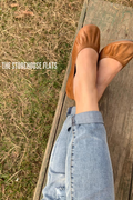 Saddle Brown Ballet Flats