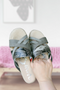 Pam Mule Grey Snake Sandals
