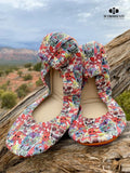 Watercolor Sugar Skulls Ballet Flats
