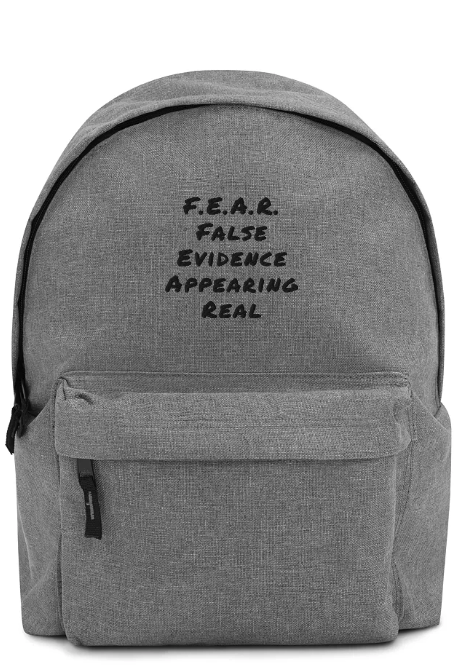 F.E.A.R. Embroidered Backpack