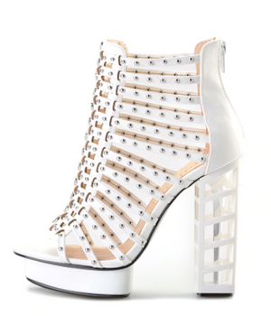 Designer Fretwork High Heels