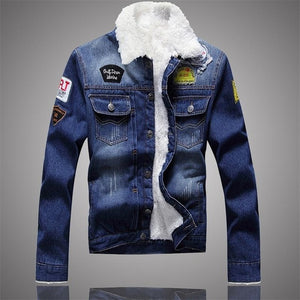 Fleece Inner Denim Jacket for Men