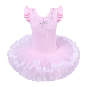 Girls Ballet Tutu Tulle Dress
