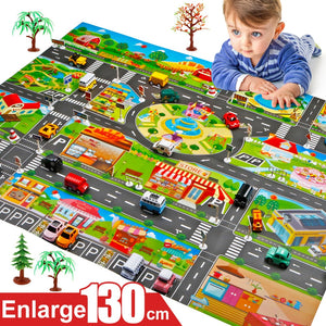 Children's Traffic Car Play Pad Parking Scene