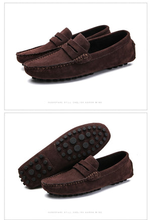 Soft Moccasins Men Loafers Genuine Leather Shoes Men Flats Gommino Driving Shoes,03 Mo Green,13