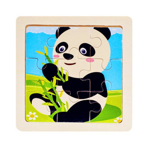 Mini Size 11*11CM Kids Toy Wood Puzzles
