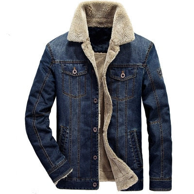 Fashion Denim Jacket for Men (Plus Size) M-6XL
