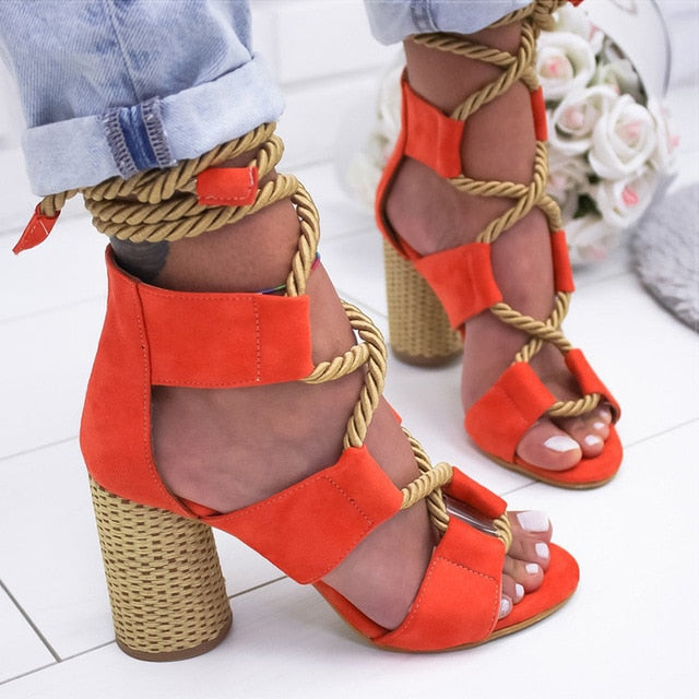 Women's Sandals Lace Up Summer Shoes