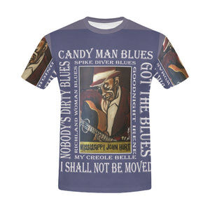 Mississippi John Hurt All Over Print T shirt