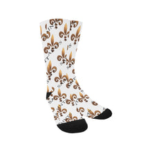 Load image into Gallery viewer, Fleur De Lis Socks Classic Crew Socks