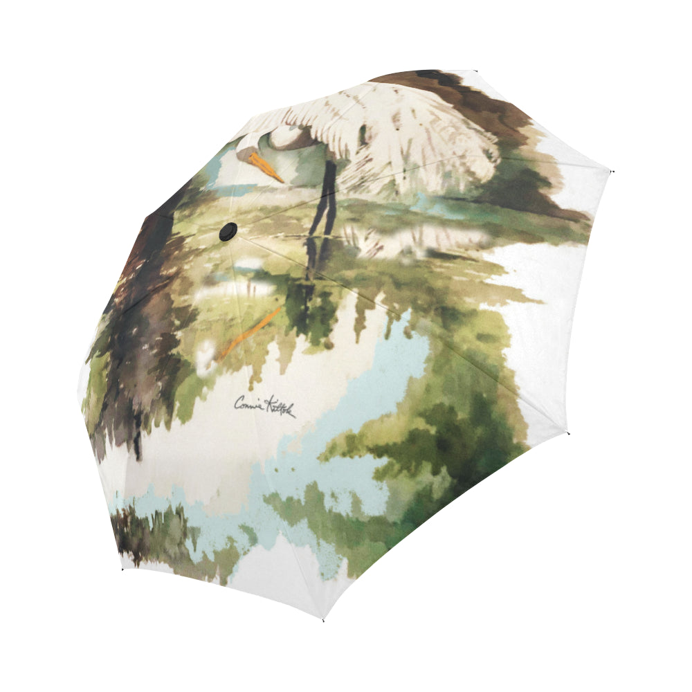 Louisiana Egret Umbrella