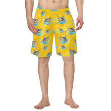 Load image into Gallery viewer, Blue Marlin allover print men's swim shorts