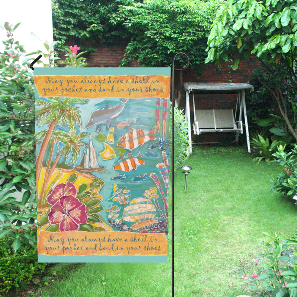 Shell In Your Pocket Garden Flag