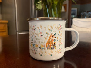 Custom Camp Metal Cup Deer Design