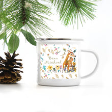 Load image into Gallery viewer, Custom Camp Metal Cup Deer Design
