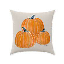 Load image into Gallery viewer, Pumpkins Pillows Beige Background